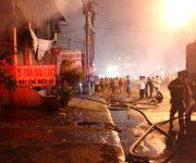 Cháy nhà máy chế biến gỗ Tân Đại Lộc