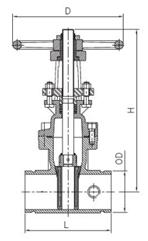 Cấu tạo chi tiết của van cổng kết nối dạng rãnh