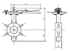 Cấu tạo chi tiết về Van bướm tay gạt kiểu kết nối vòng đệm