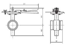 Cấu tạo chi tiết về Van bướm tay gạt kiểu kết nối dạng rãnh