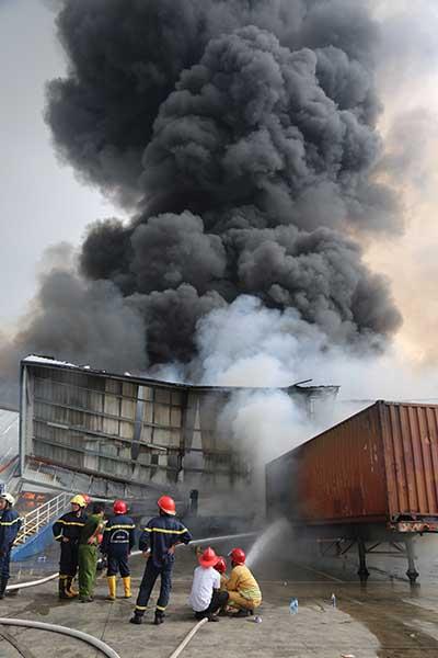 Cháy công ty Panpacific khu Công nghiệp Sóng Thần 2, tỉnh Bình Dương