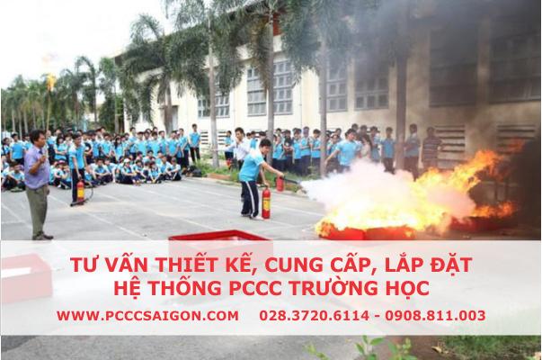 Hướng dẫn học sinh, sinh viên dùng bình chữa cháy xách tay