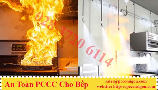 An toàn phòng cháy chữa cháy bếp.