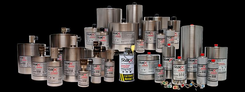 Stat-X aerosol có 3 loại kích hoạt bằng nhiệt, kích hoạt bằng nhiệt và loại quả ném