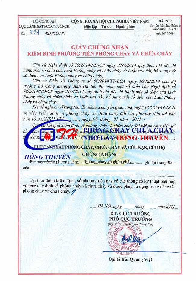 Kiểm định phòng cháy chữa cháy (PCCC)